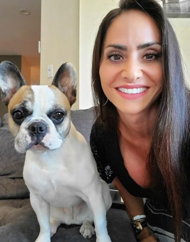 Lauren and one of her dogs, Harley